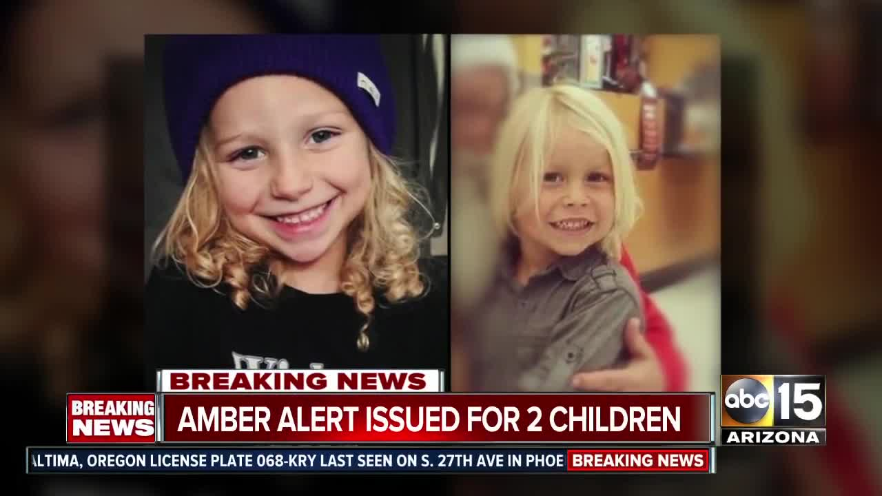 Arizona Amber Alert canceled - 2 kids abducted in Phoenix found safe