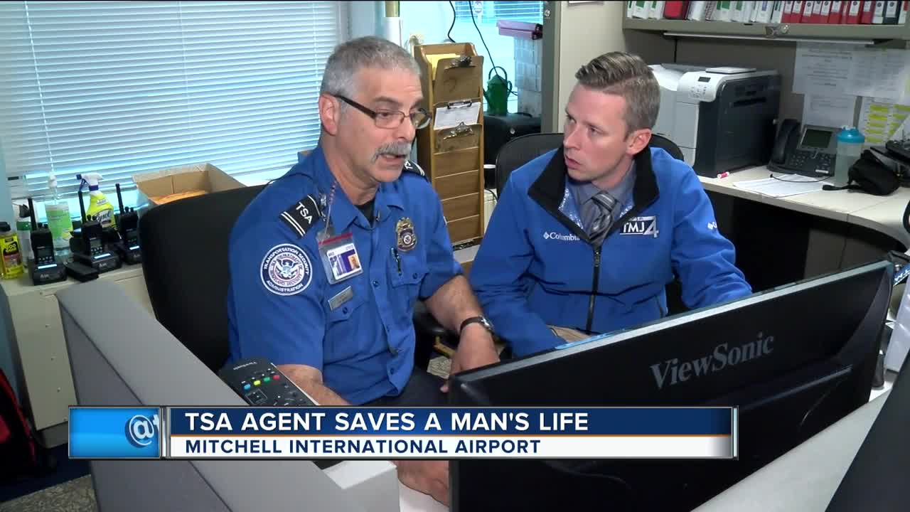 Image result for Local TSA Agent saves man having heart attack at airport