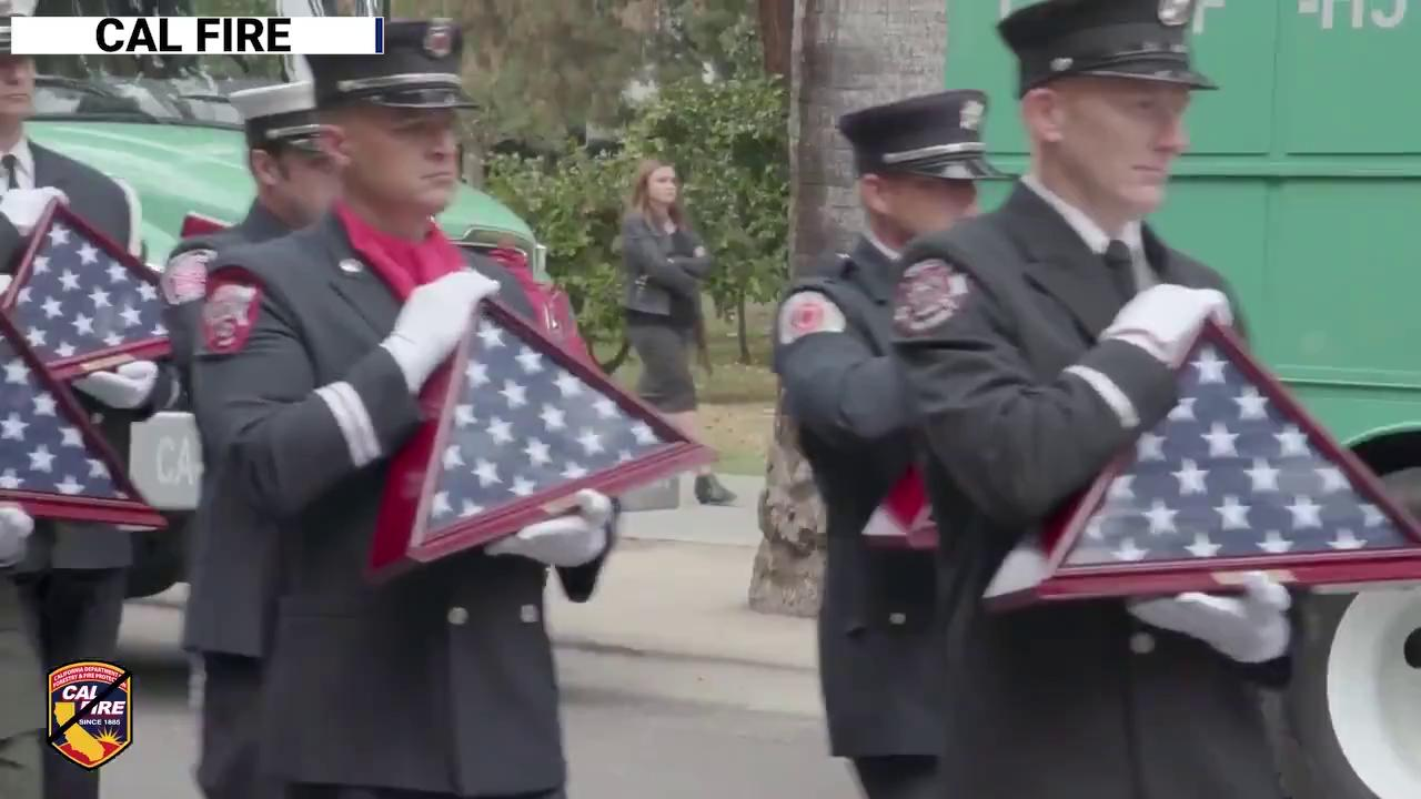 California firefighters pay tribute to 34 companions who died in the line of duty