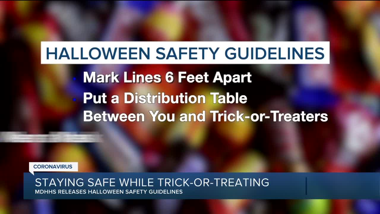 Michigan Department of Health and Human Services releases trick-or-treating recommendations