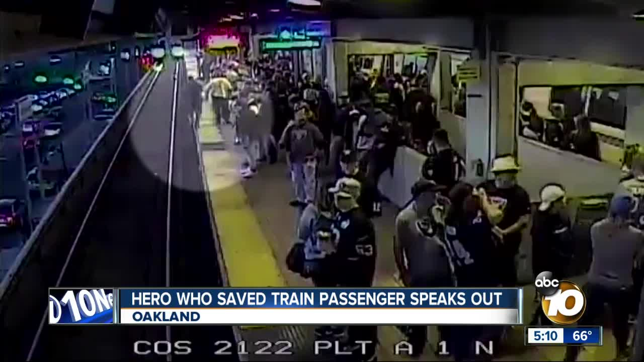 As Train Rushes Past, BART Worker Pulls Passenger From Tracks
