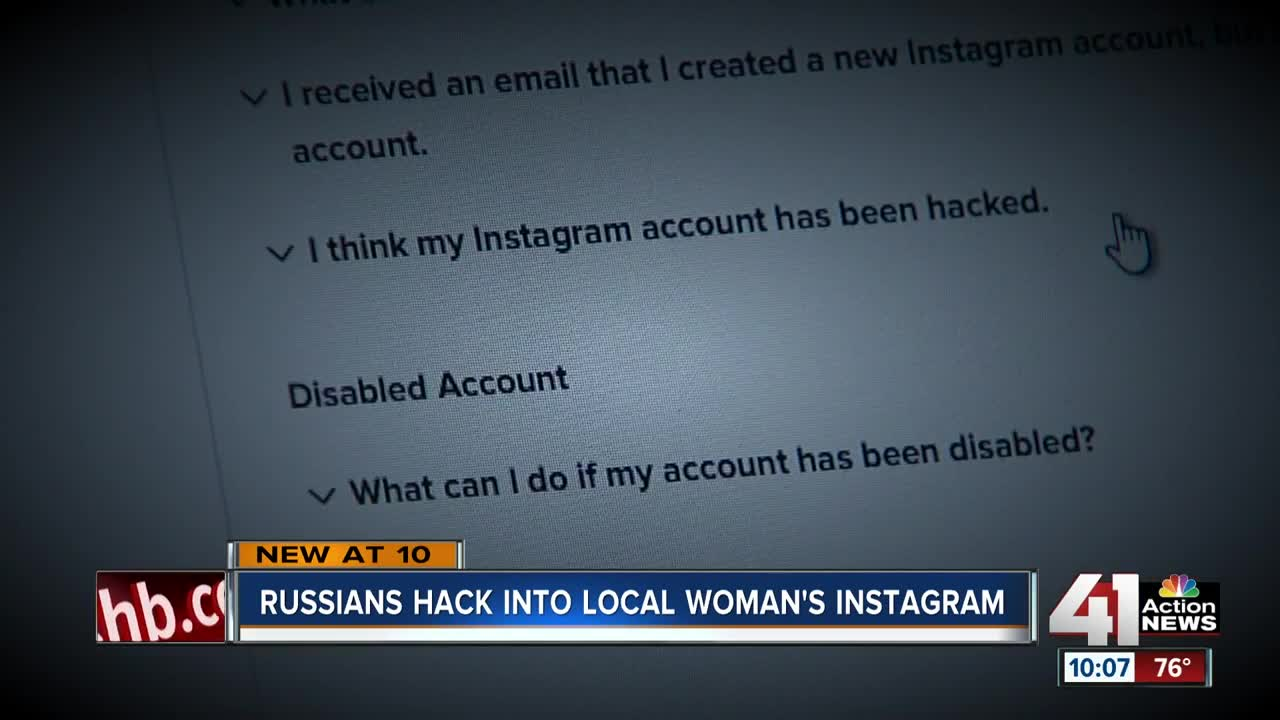 Overland Park woman warns others after Instagram account hacked