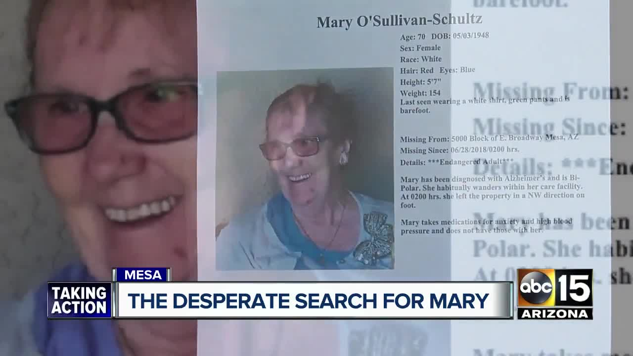 barefoot woman 70 reported missing from mesa care facility