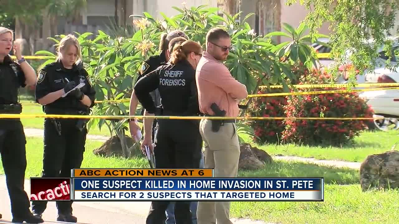 Home invasion suspect killed in south St  Petersburg, two