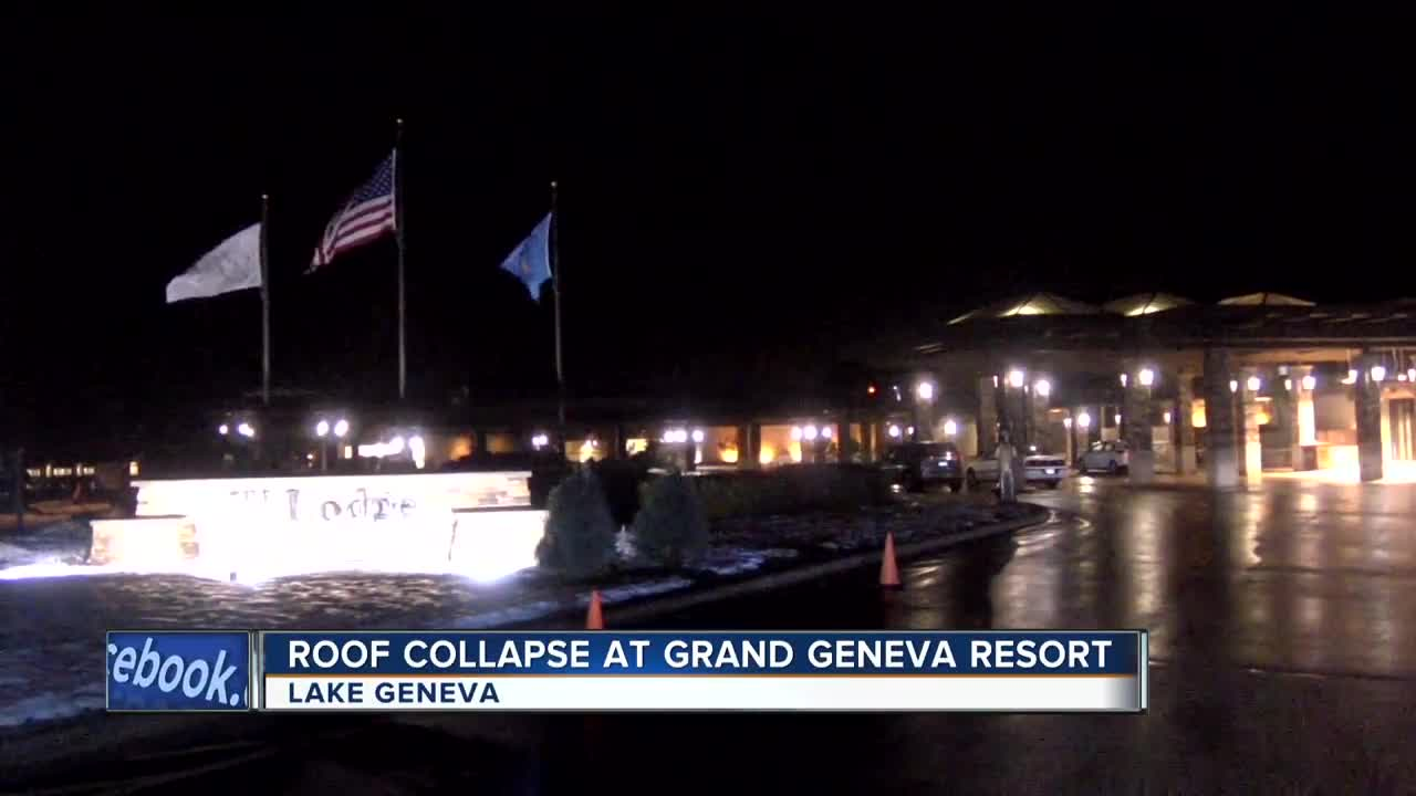 Walworth County Sheriff: Portion of roof collapses at Grand
