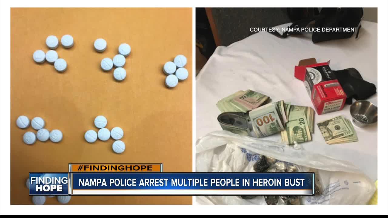 Nampa Police arrest multiple individuals for drug