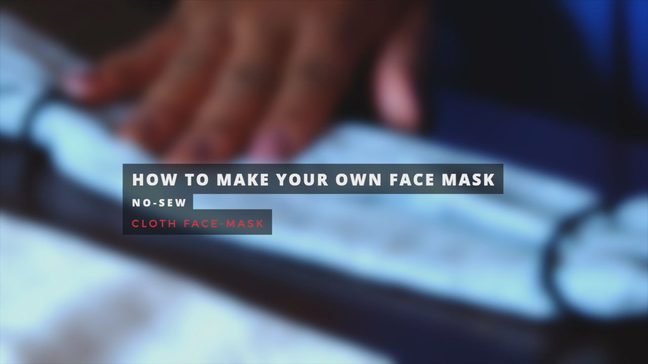 Make a protective face mask from a bandana in 5 easy steps