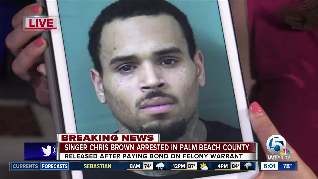 Singer Chris Brown arrested in Palm Beach County on felony assault