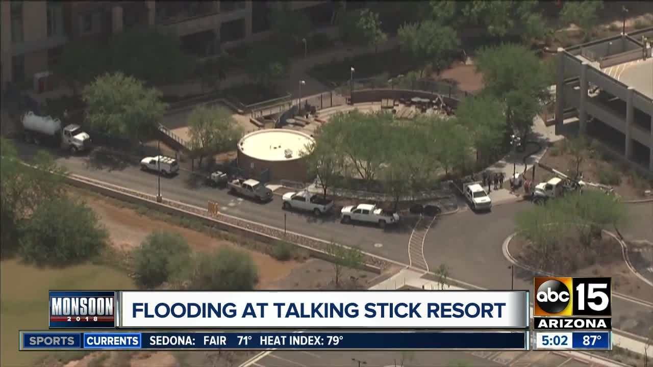 Talking Stick Resort Closed Monsoon Storm Causes Flooding Forces - Pavilions at talking stick car show