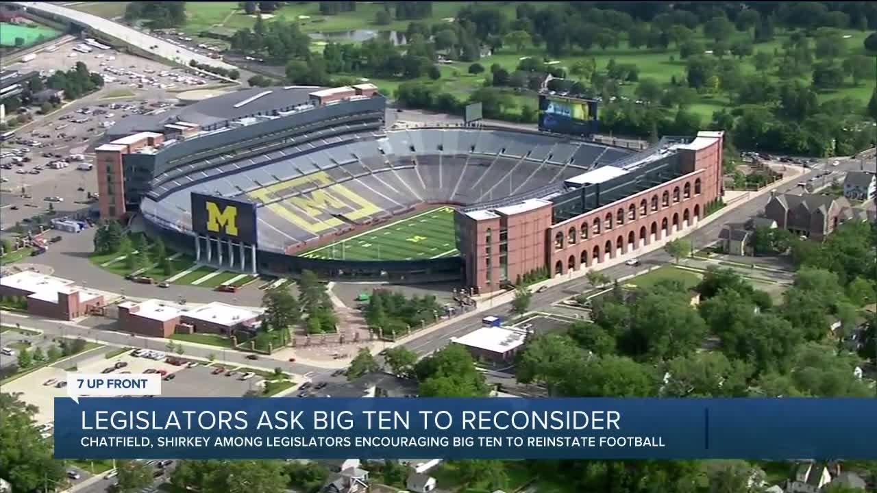 Iowa lawmakers ask Big Ten to reconsider postponed football season
