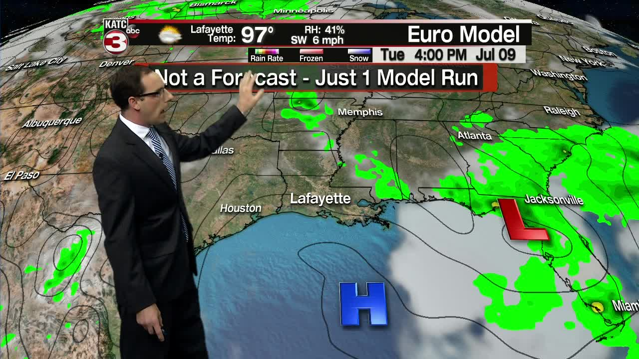 High chance for tropical development in Gulf of Mexico, rain likely locally