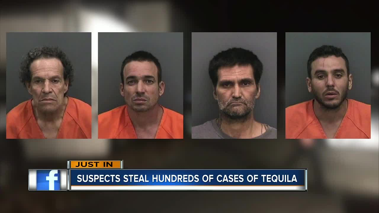 $500K truckload of stolen tequila recovered, 4 men arrested